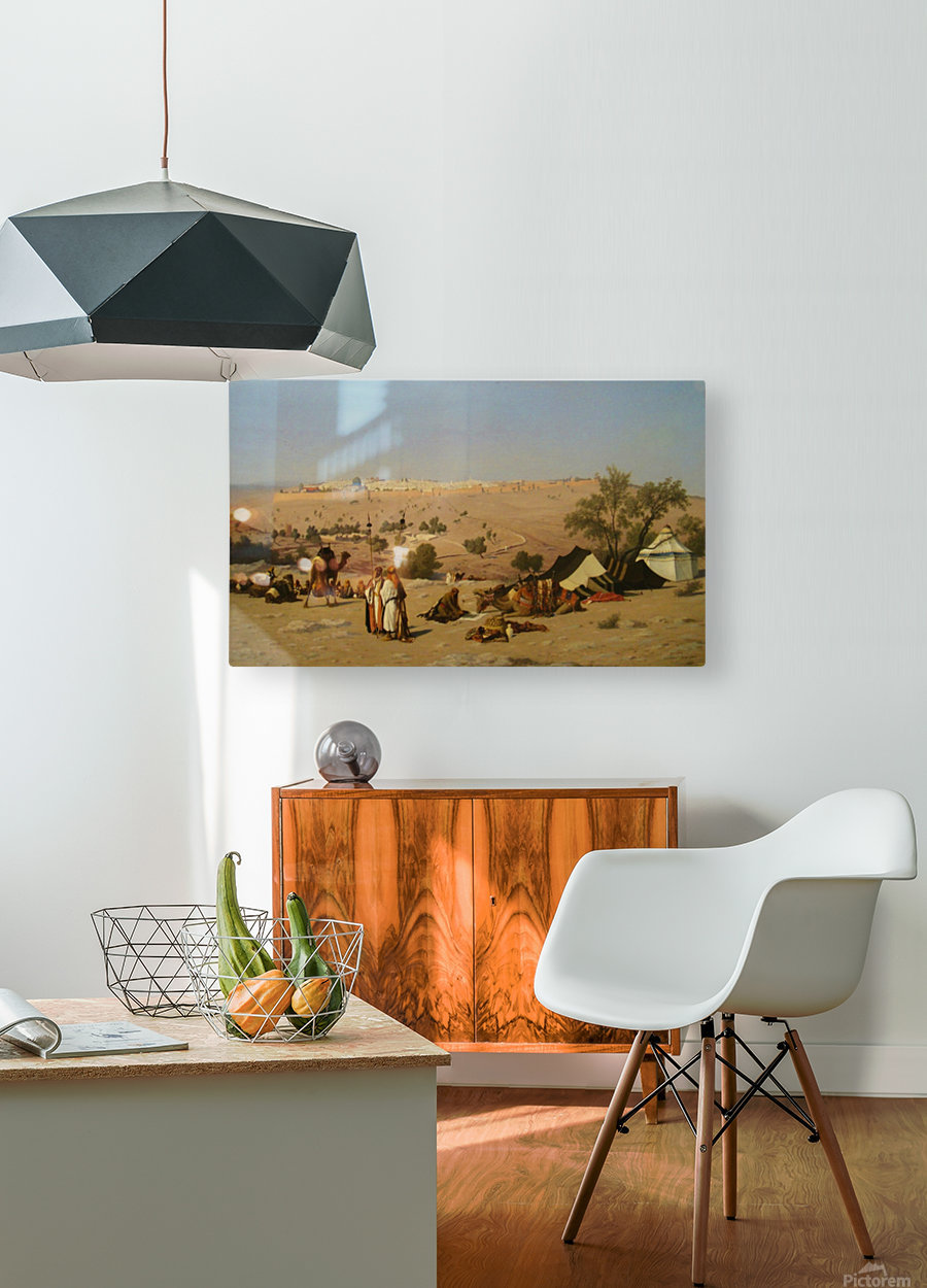 Jerusalem from the Environs  HD Metal print with Floating Frame on Back