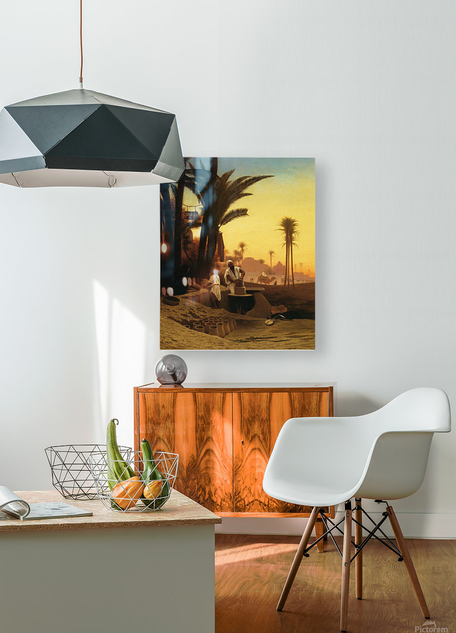 The Egyptian potter  HD Metal print with Floating Frame on Back