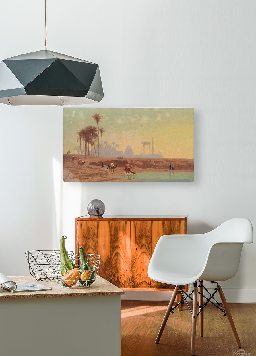 Caravan to the oasis  HD Metal print with Floating Frame on Back
