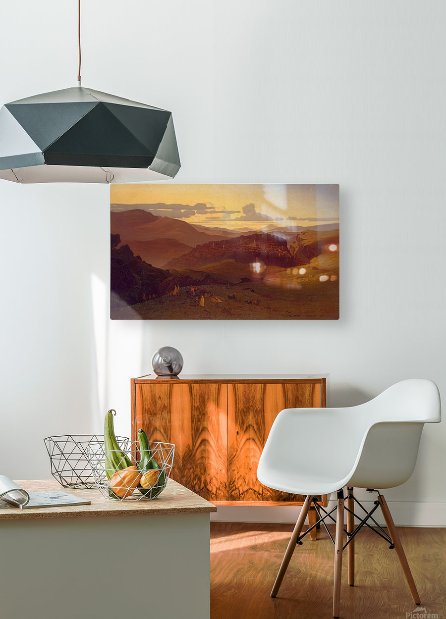 View of the City of Constantine  HD Metal print with Floating Frame on Back