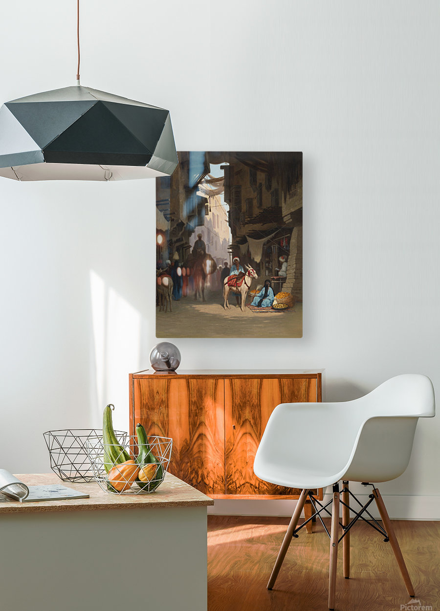 The Souk  HD Metal print with Floating Frame on Back