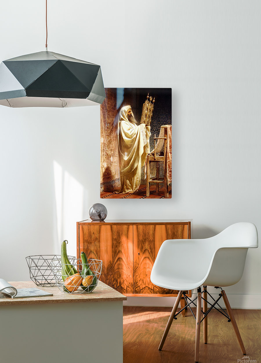 The High Priest of the Samarian  HD Metal print with Floating Frame on Back