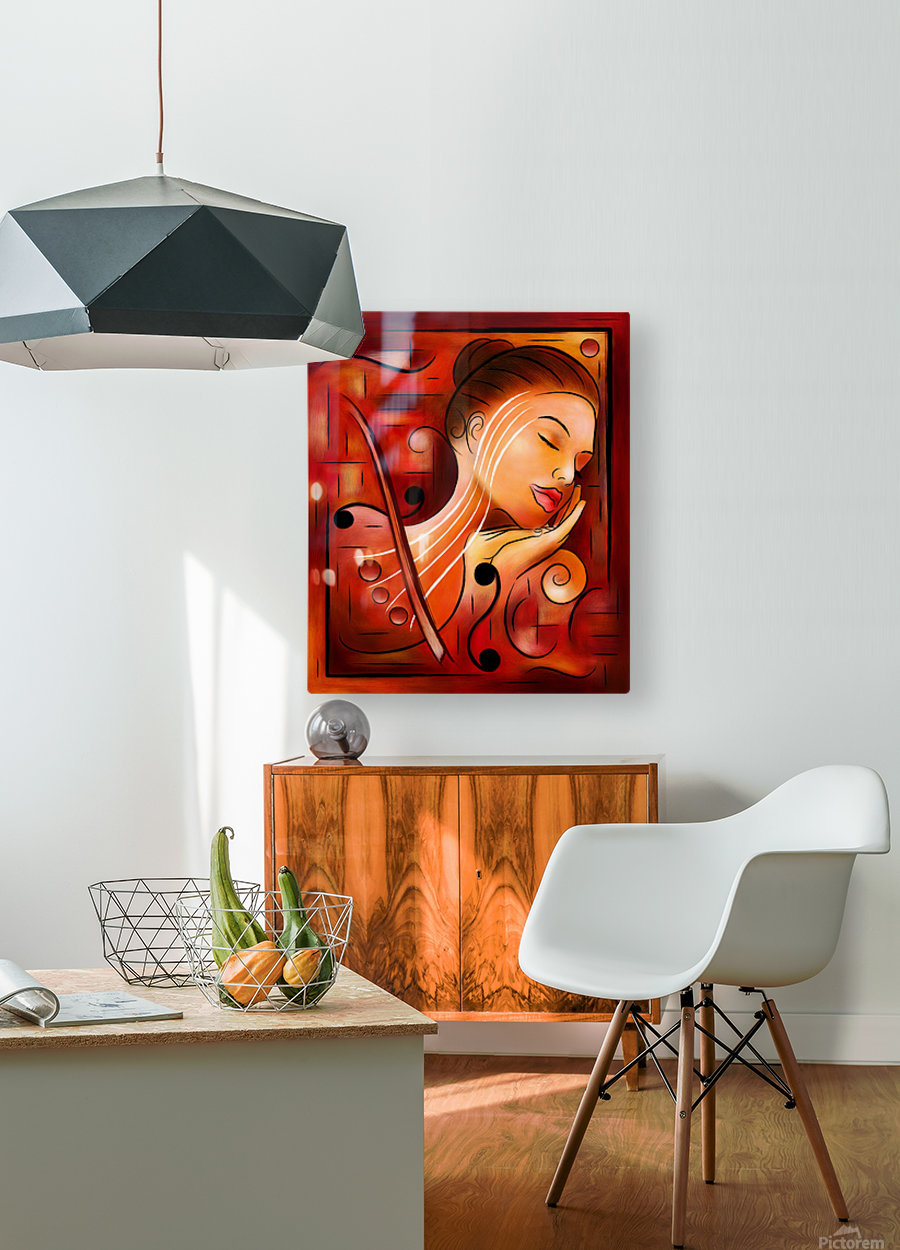 Casselopia - Violin dream  HD Metal print with Floating Frame on Back