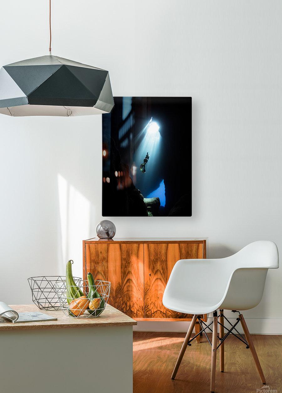 dark cave ver  HD Metal print with Floating Frame on Back