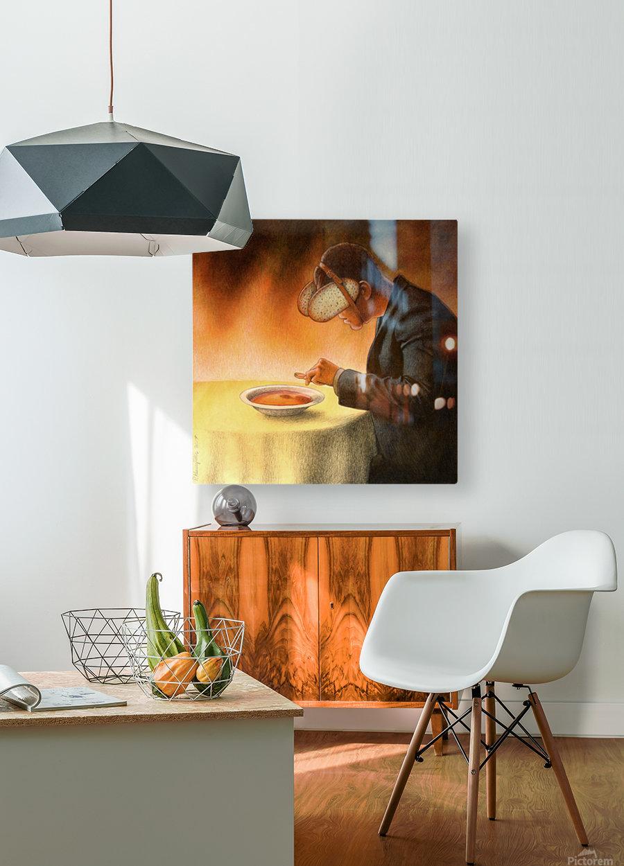 blind  HD Metal print with Floating Frame on Back
