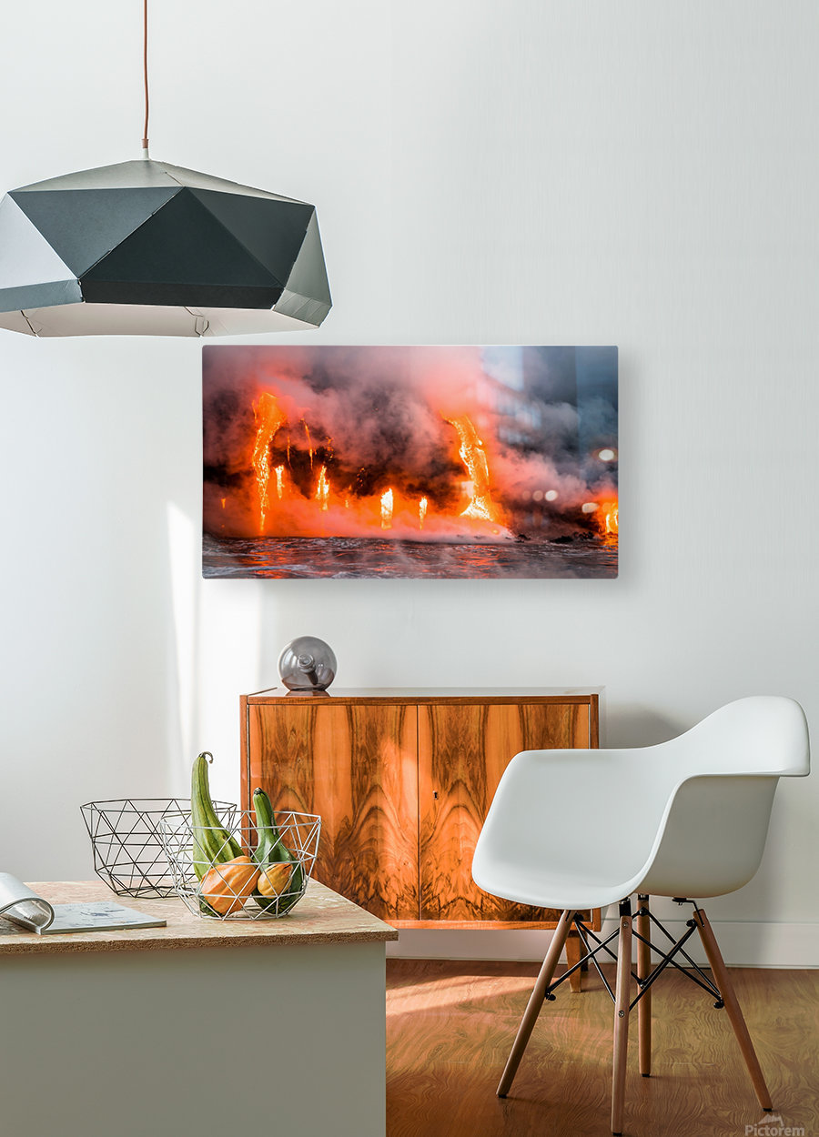 Hawaii Lava   HD Metal print with Floating Frame on Back
