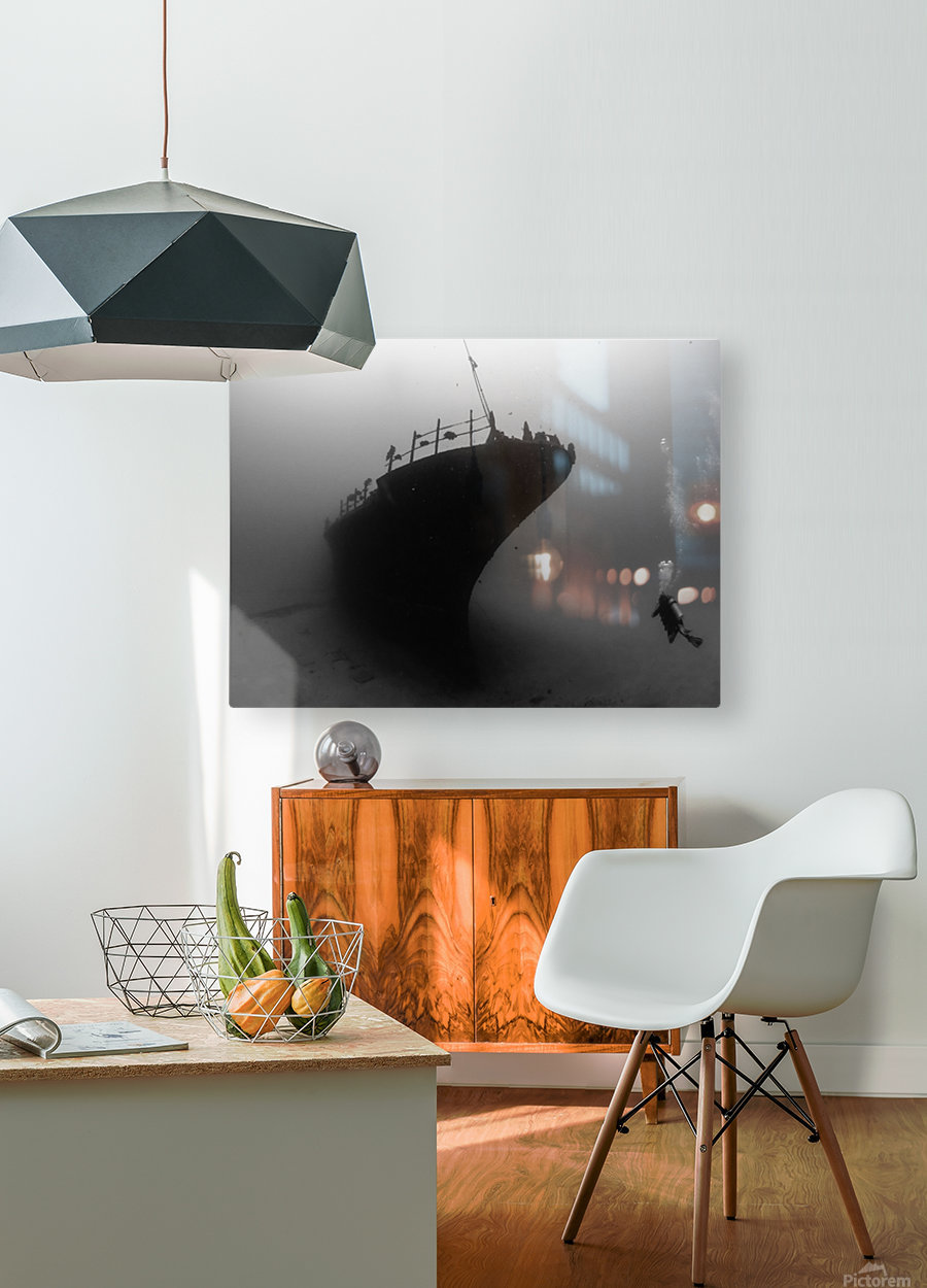 Sea tiger  HD Metal print with Floating Frame on Back