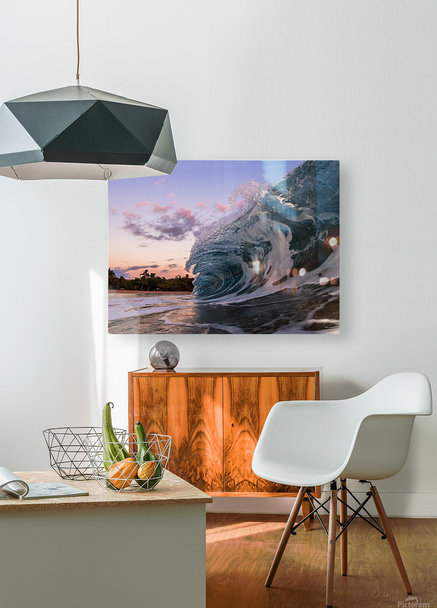 morning session  HD Metal print with Floating Frame on Back