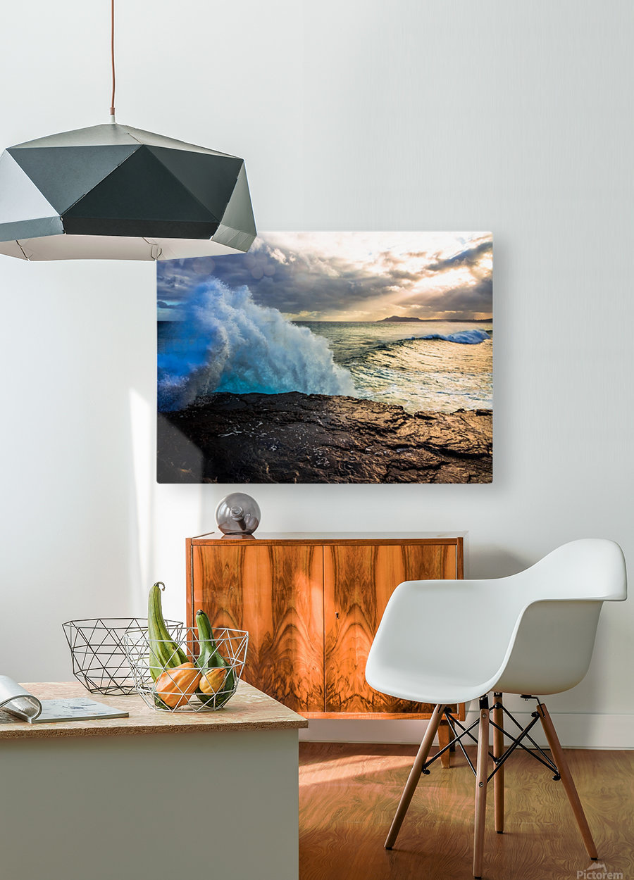 China Wall  HD Metal print with Floating Frame on Back