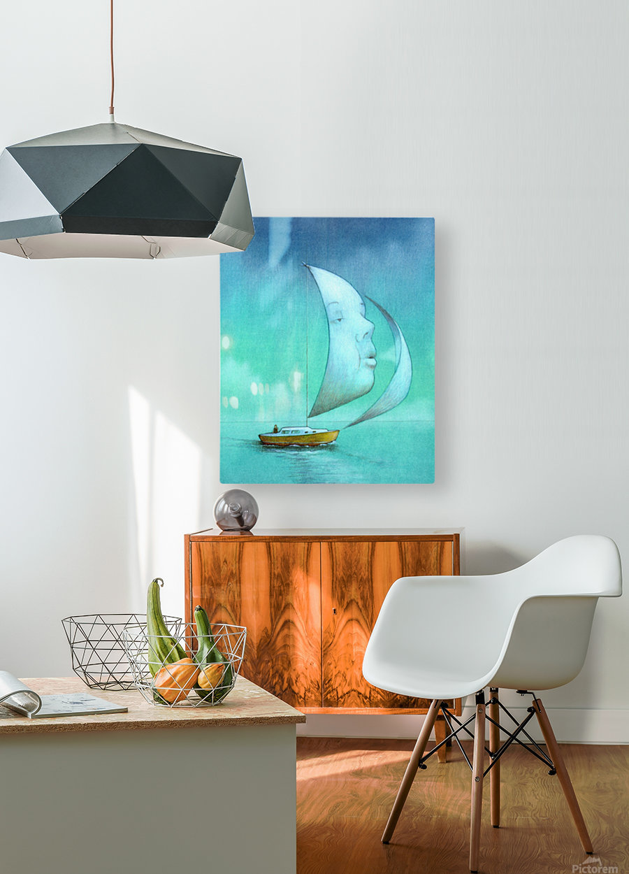 soul   HD Metal print with Floating Frame on Back