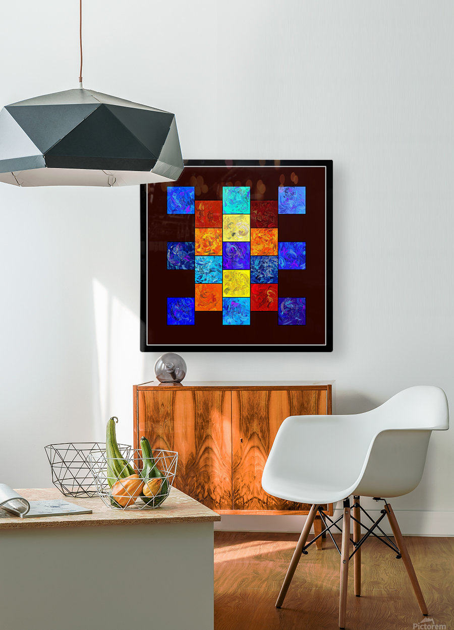 Ecleptios - colourful world  HD Metal print with Floating Frame on Back