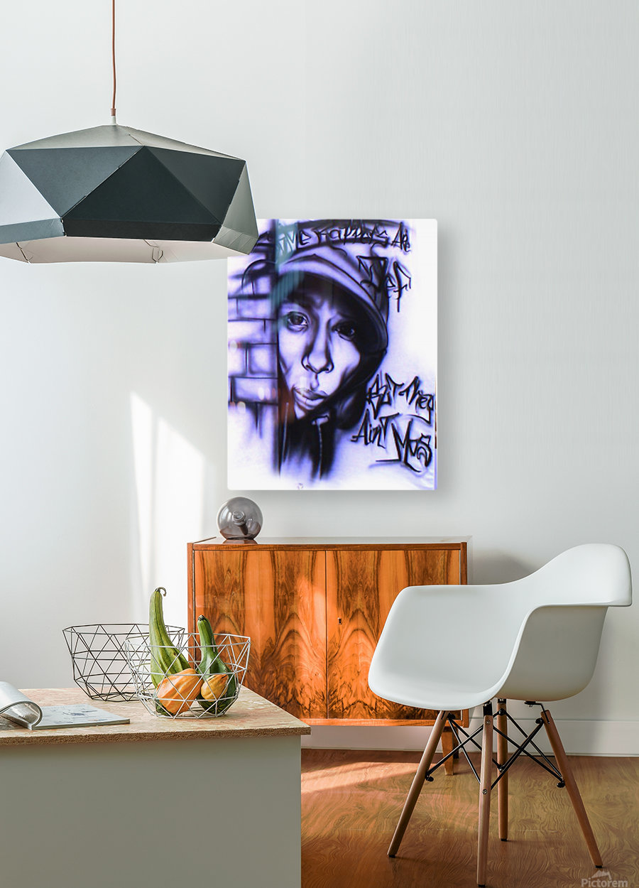 mos def  HD Metal print with Floating Frame on Back