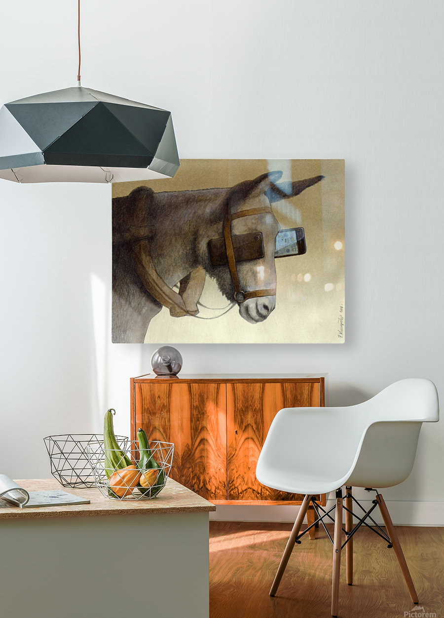 blinkers  HD Metal print with Floating Frame on Back
