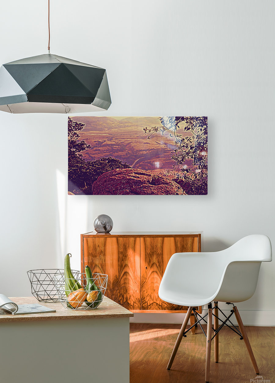 prayingrock  HD Metal print with Floating Frame on Back