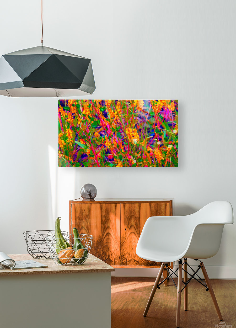 weedart  HD Metal print with Floating Frame on Back