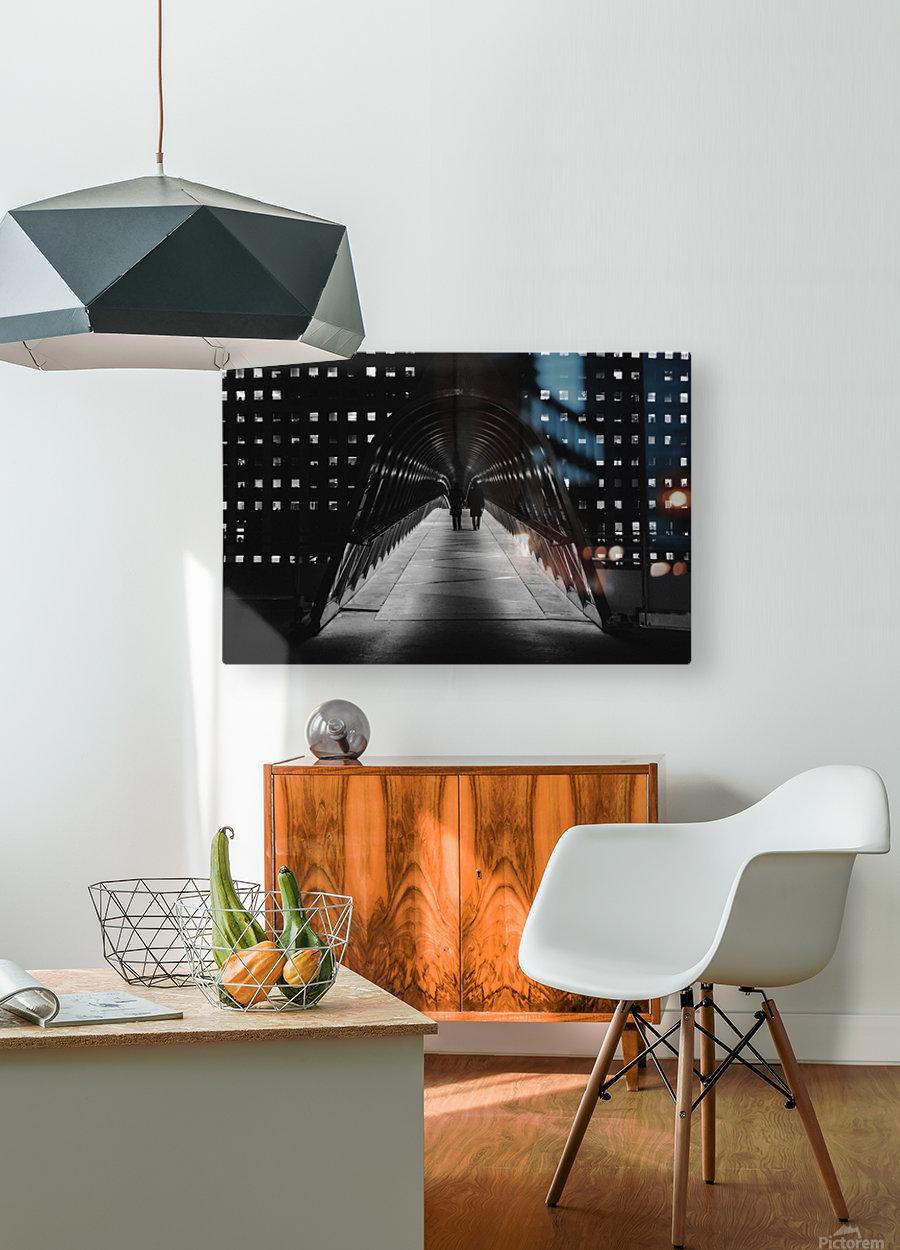 La Defense Paris  HD Metal print with Floating Frame on Back