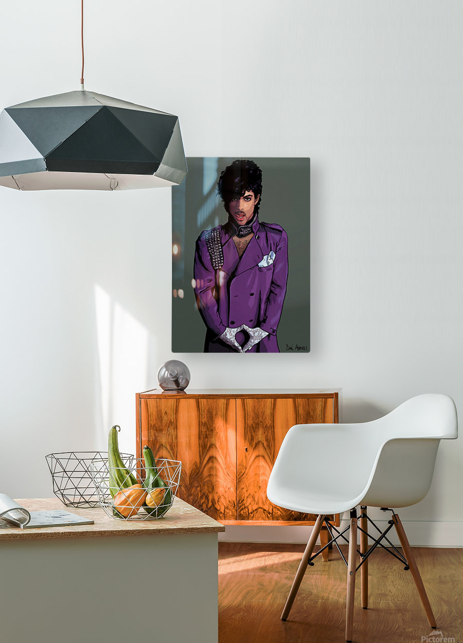 Prince  HD Metal print with Floating Frame on Back