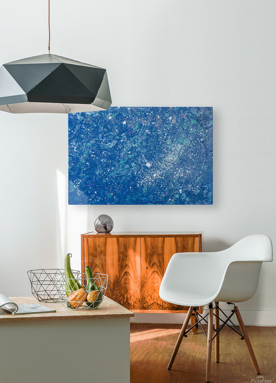 Space Race  HD Metal print with Floating Frame on Back
