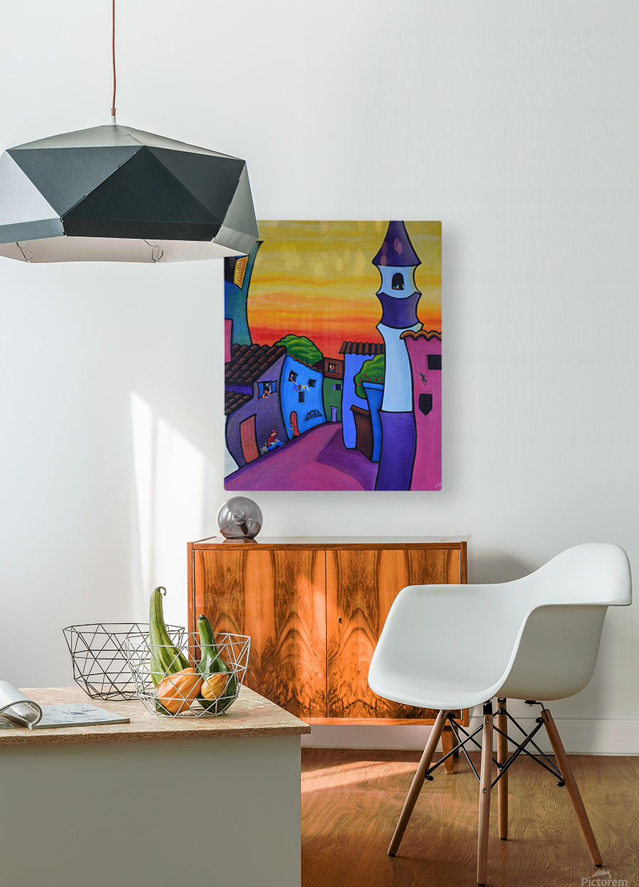 Lane in Languedoc  HD Metal print with Floating Frame on Back