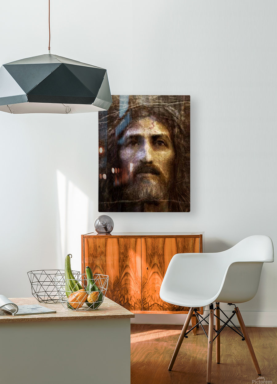 Christ face reconstruction  HD Metal print with Floating Frame on Back