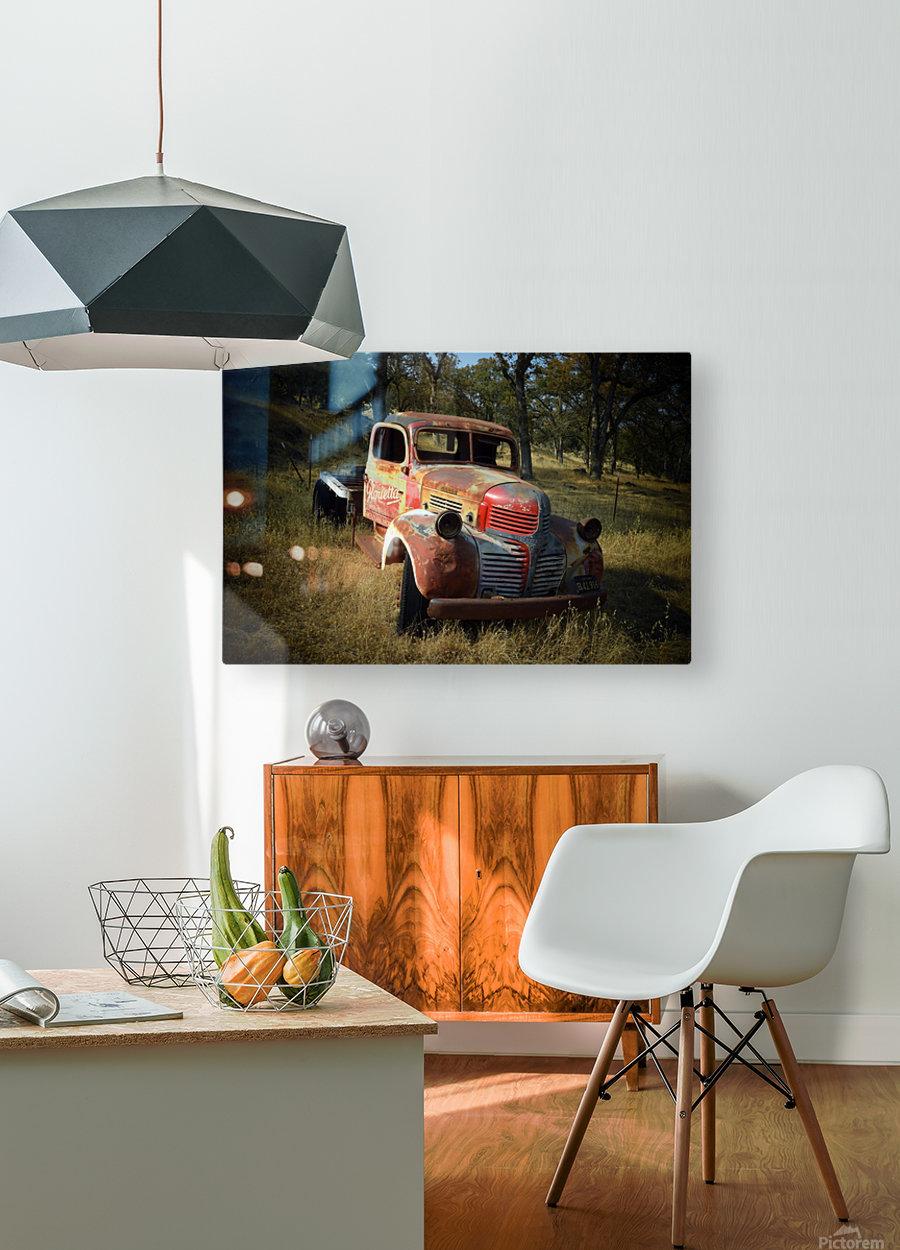 Abandoned Dodge Truck  HD Metal print with Floating Frame on Back