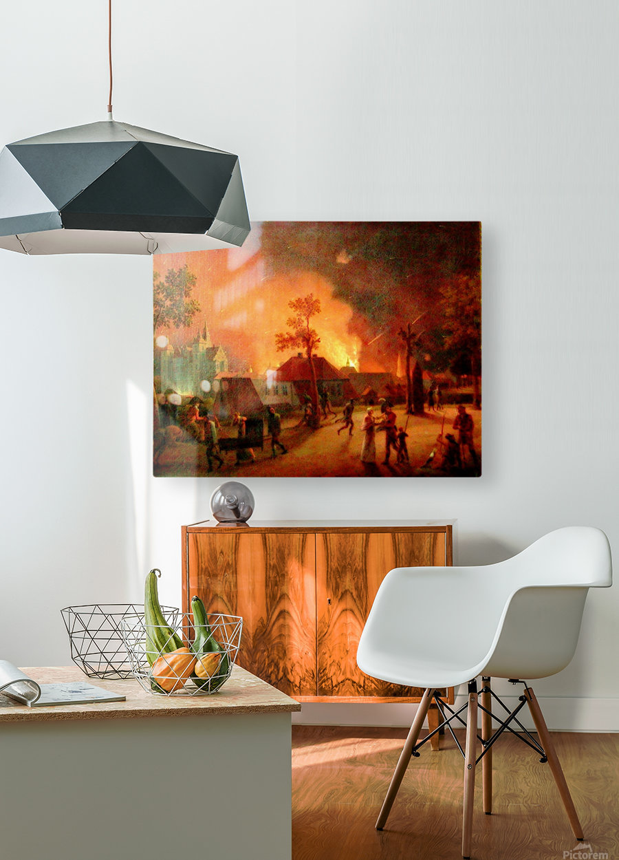 The Bombardment of Copenhagen  HD Metal print with Floating Frame on Back