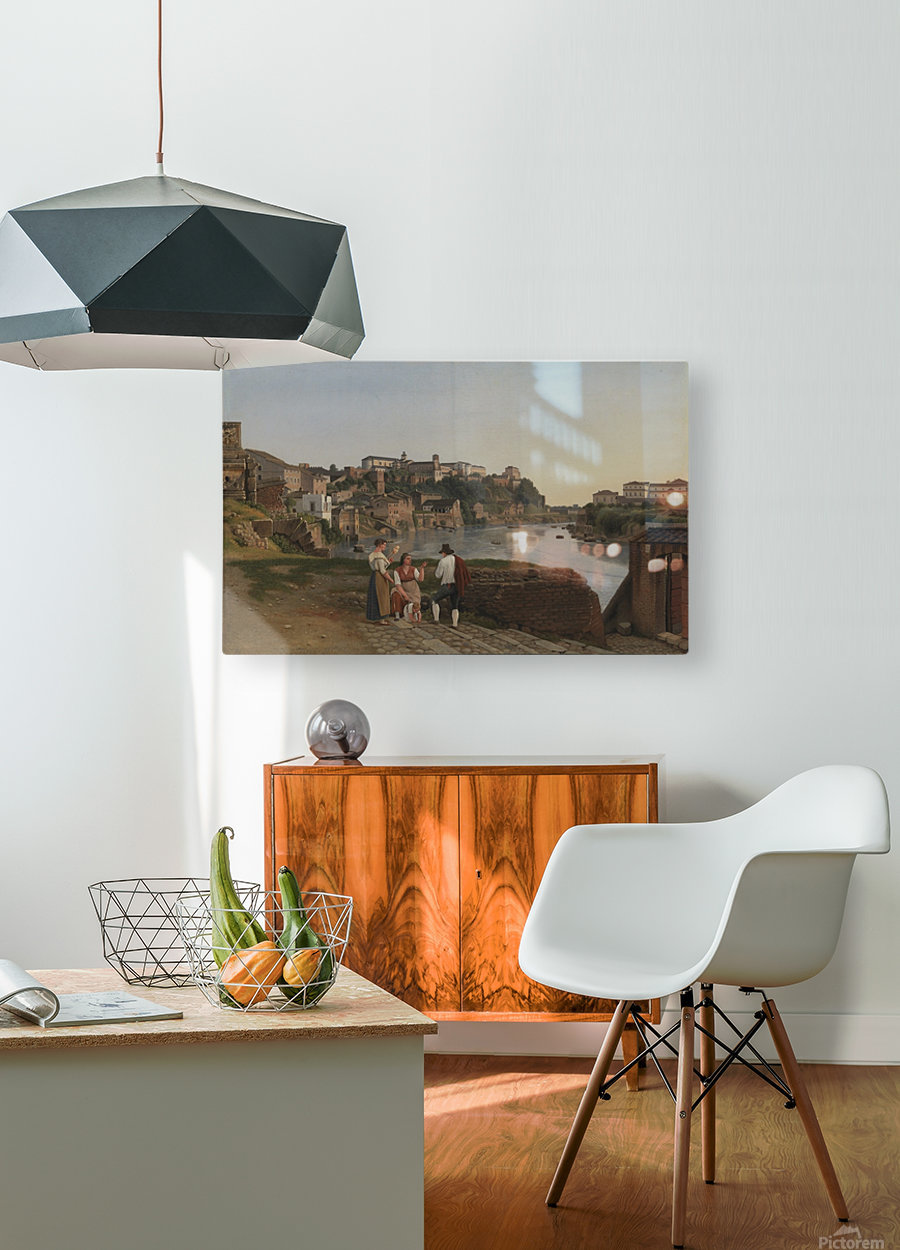 View of the Tiber near Ponte Rotto  HD Metal print with Floating Frame on Back