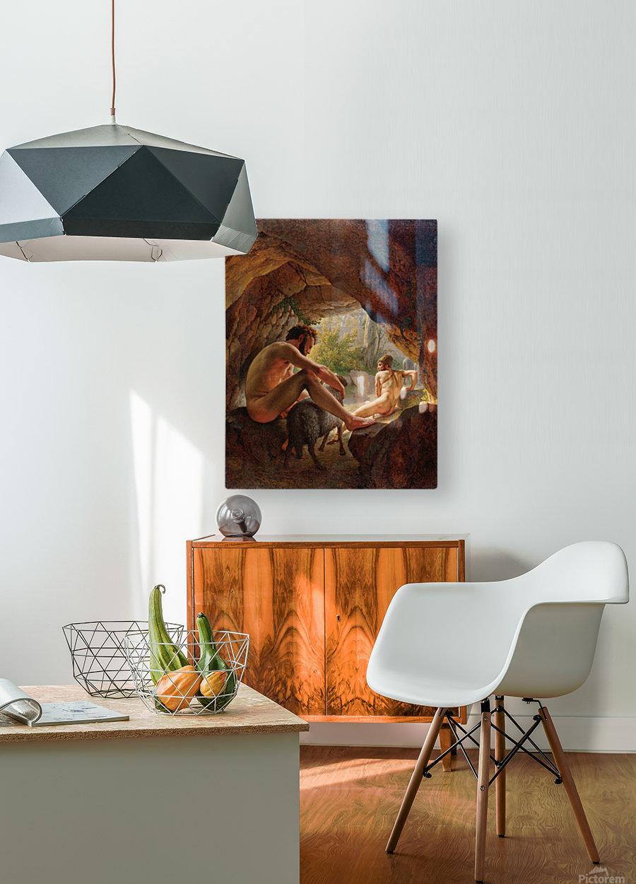 Odysseus flygter fra Polyfem  HD Metal print with Floating Frame on Back