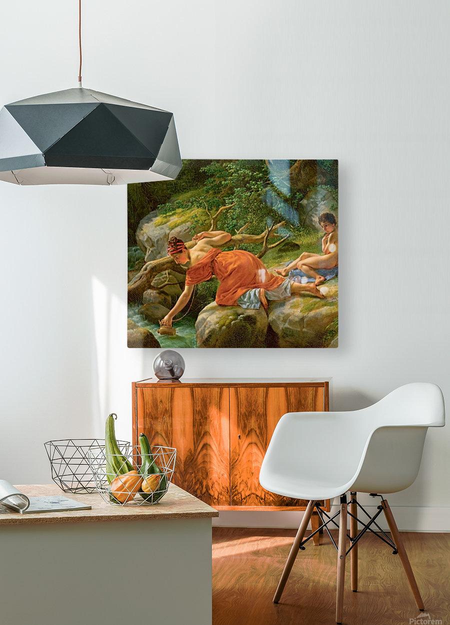 Agar et Ismael  HD Metal print with Floating Frame on Back