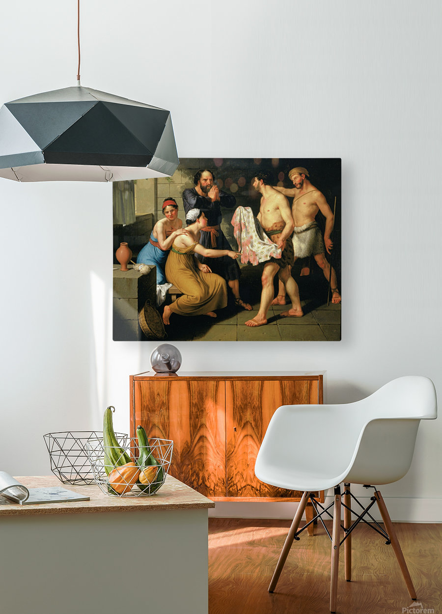 Joseph's brothers bring his coat to Jacob  HD Metal print with Floating Frame on Back