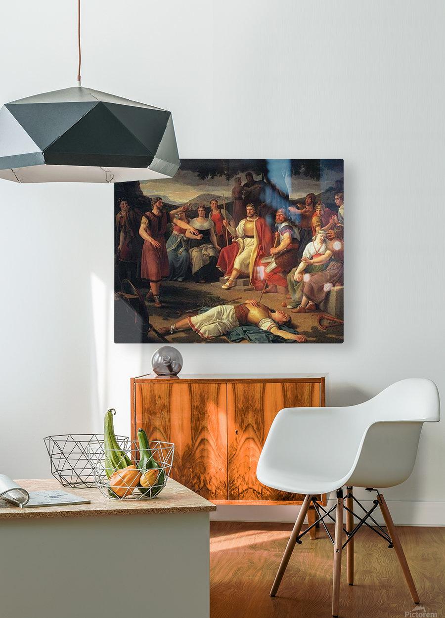 Baldr's Death  HD Metal print with Floating Frame on Back