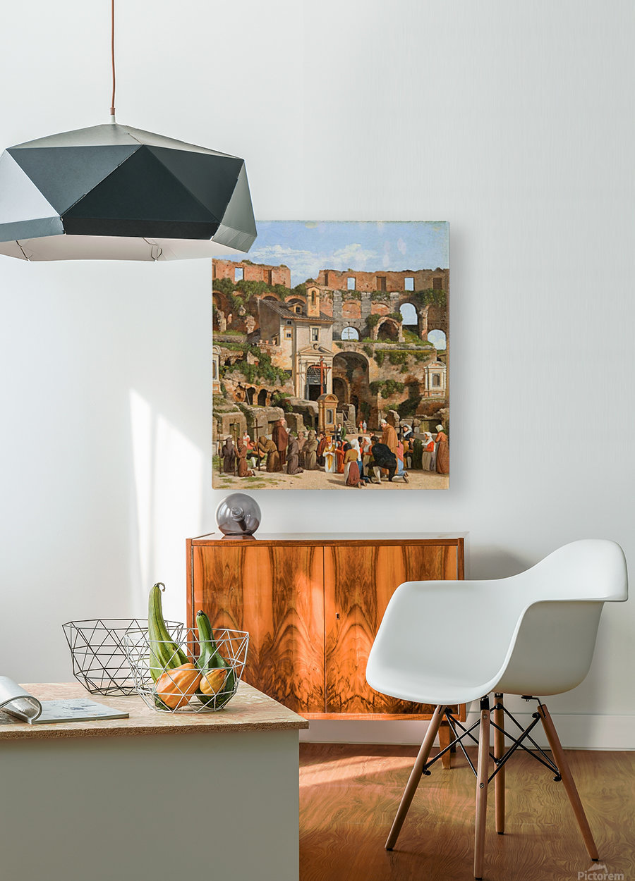 View of the interior of the Colosseum  HD Metal print with Floating Frame on Back