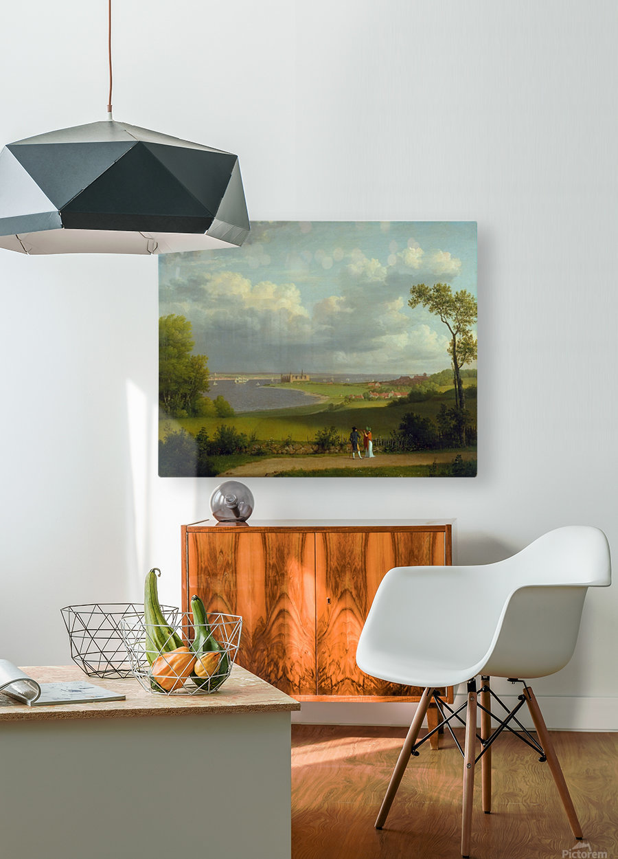 View north of Kronborg Castle  HD Metal print with Floating Frame on Back