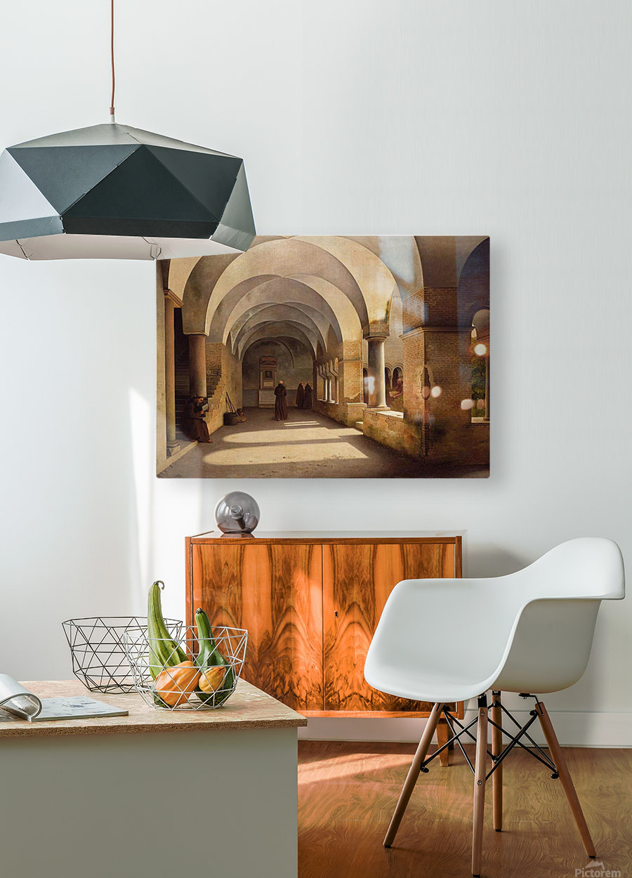 The Cloisters, San Lorenzo fuori le mura  HD Metal print with Floating Frame on Back