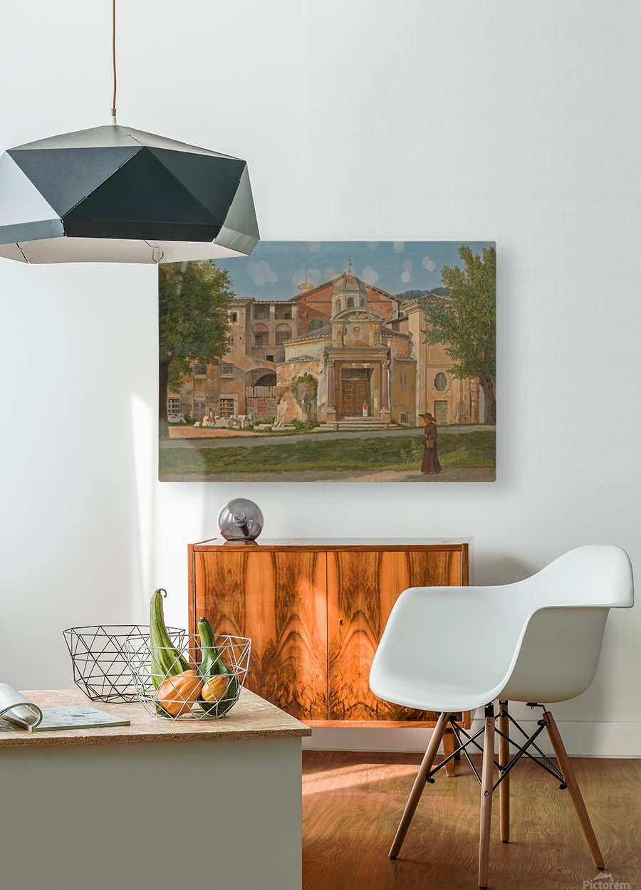 A Section of the Via Sacra, Rome  HD Metal print with Floating Frame on Back