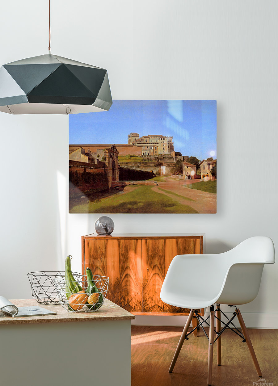 Rome, Porta Angelica and part of the Vatican, 1813  HD Metal print with Floating Frame on Back