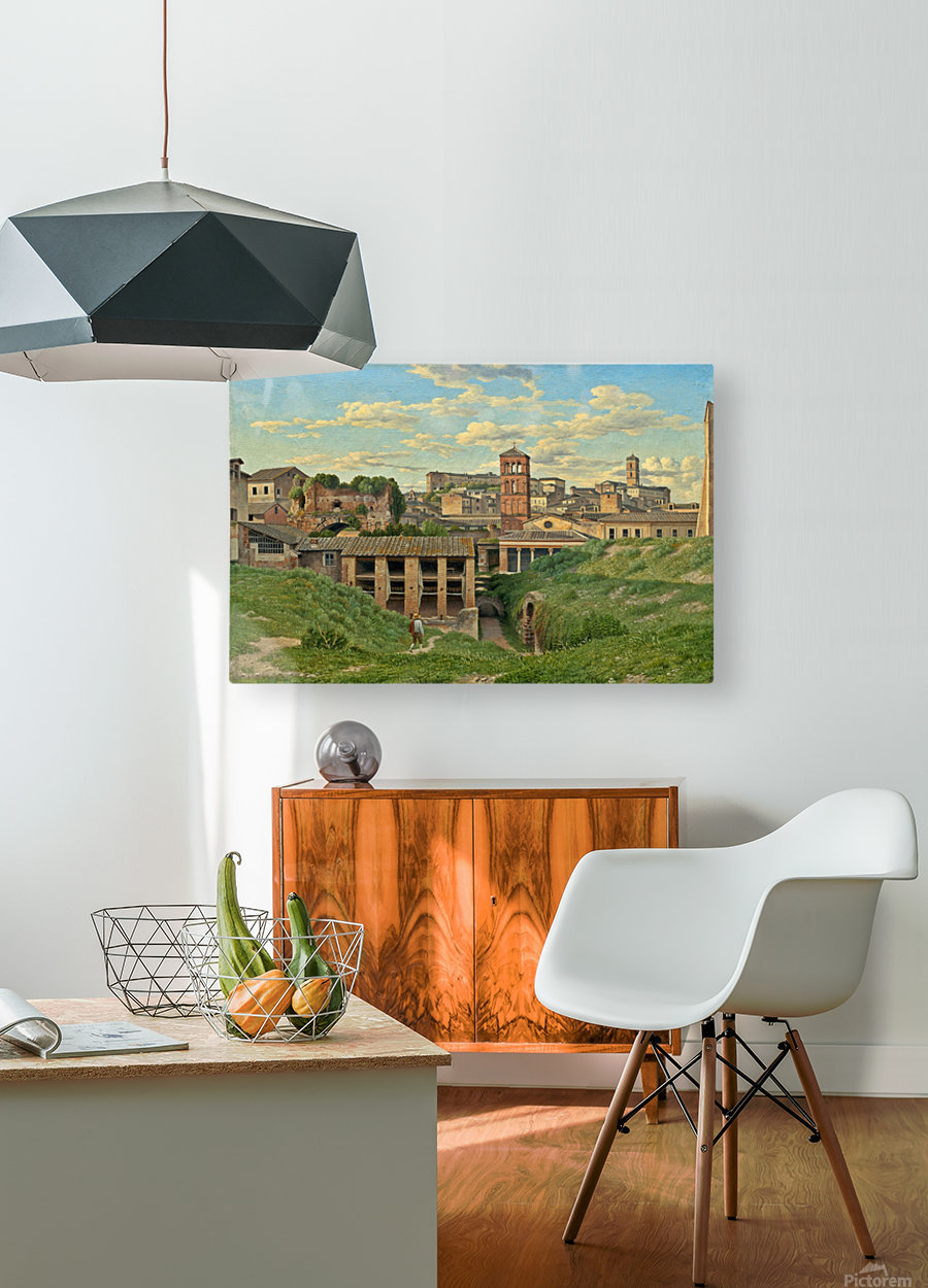 View of the Cloaca Maxima, Rome  HD Metal print with Floating Frame on Back