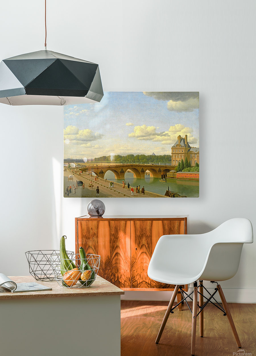 View at Pont Royal from Voltaire Quai in Paris  HD Metal print with Floating Frame on Back