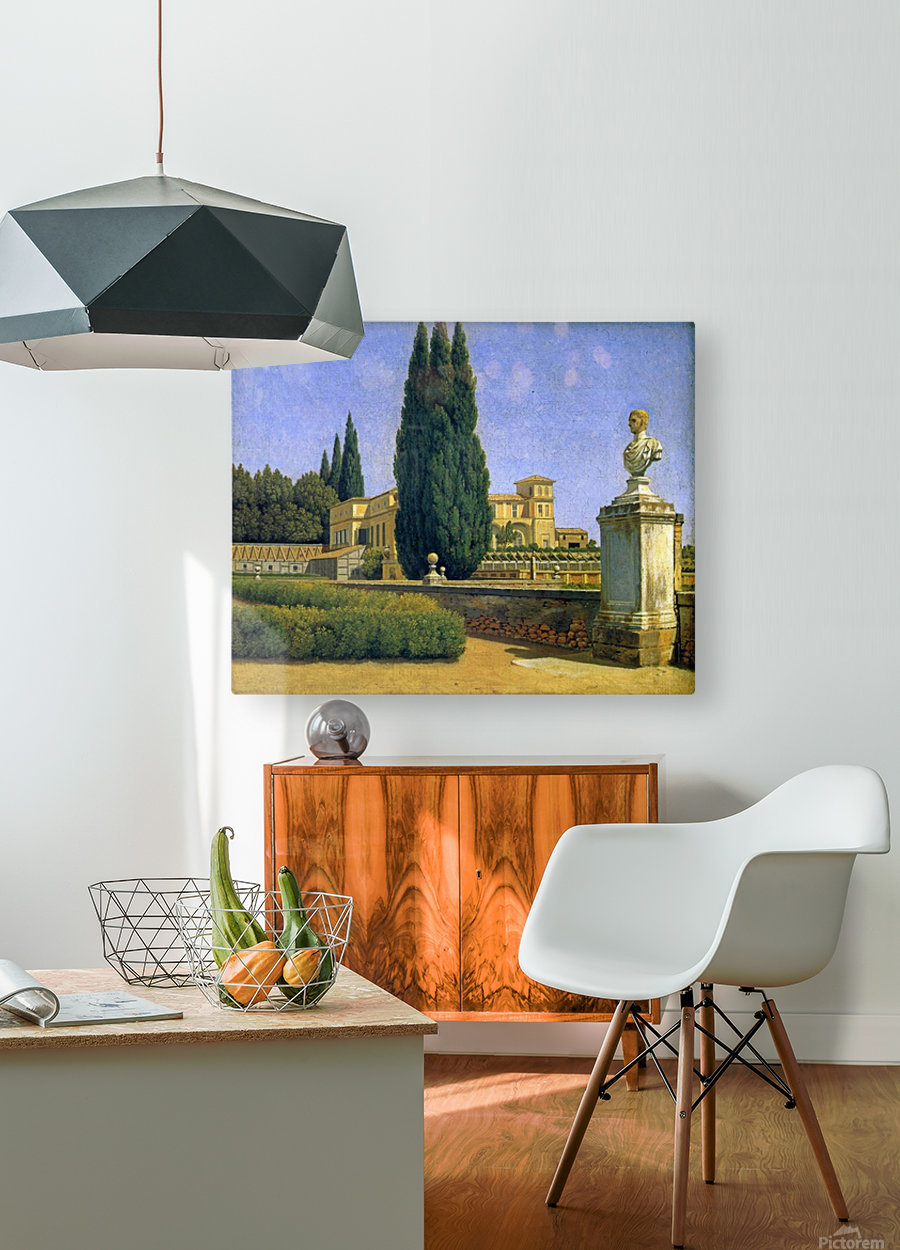 In the Gardens of the Villa Albani  HD Metal print with Floating Frame on Back