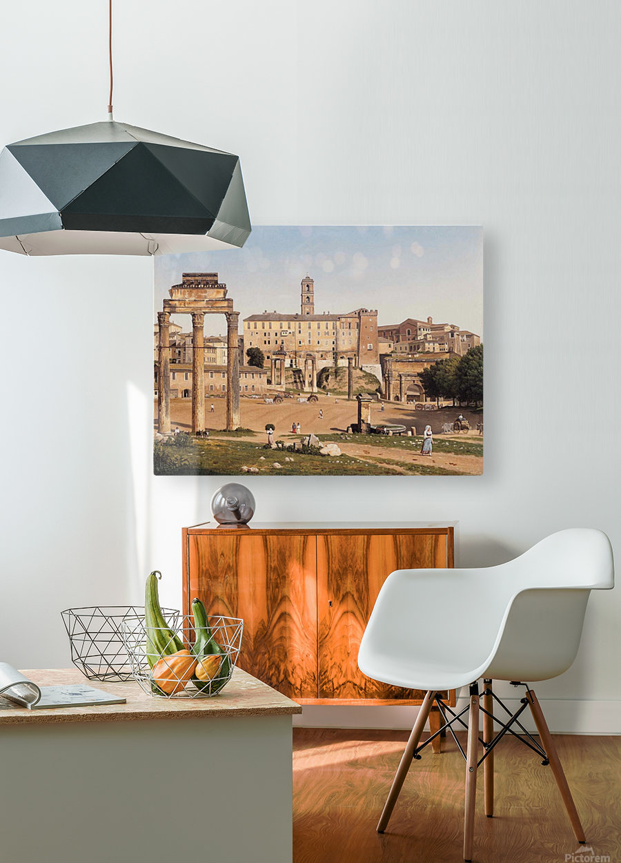View of the Forum in Rome  HD Metal print with Floating Frame on Back