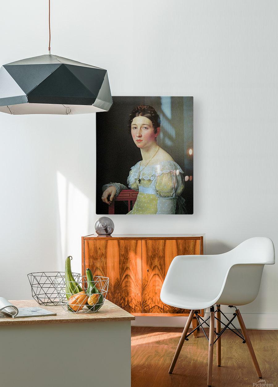 Portrait of Emilie Henriette Massmann  HD Metal print with Floating Frame on Back