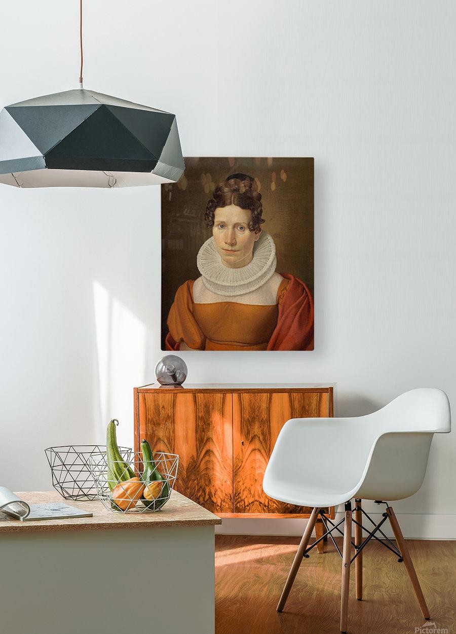 Portrait of Faktor Fjellerups Kone  HD Metal print with Floating Frame on Back