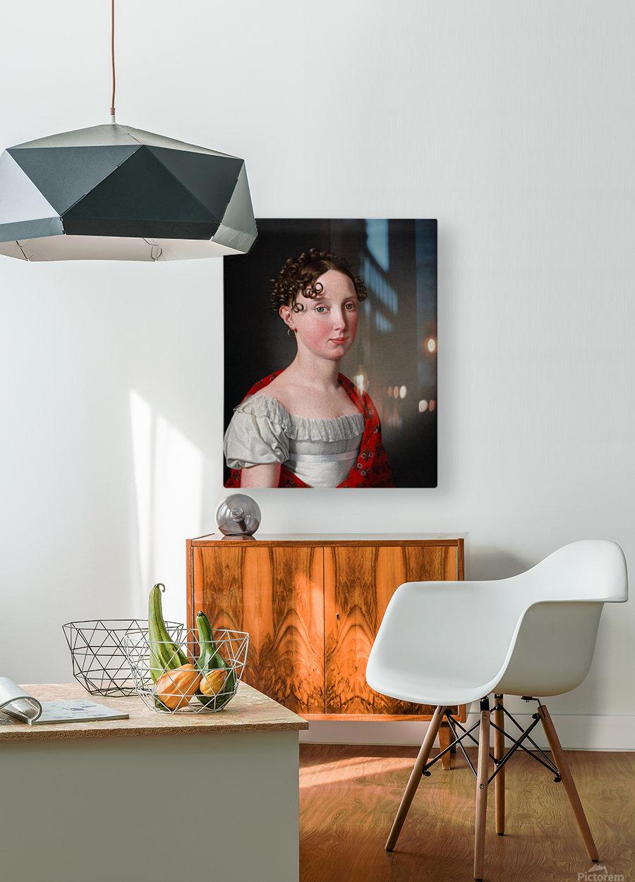 Portrait of Ida Mariane Brockenhuus  HD Metal print with Floating Frame on Back