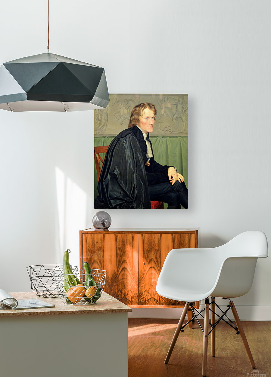 Portrait of Bertel Thorvaldsen  HD Metal print with Floating Frame on Back