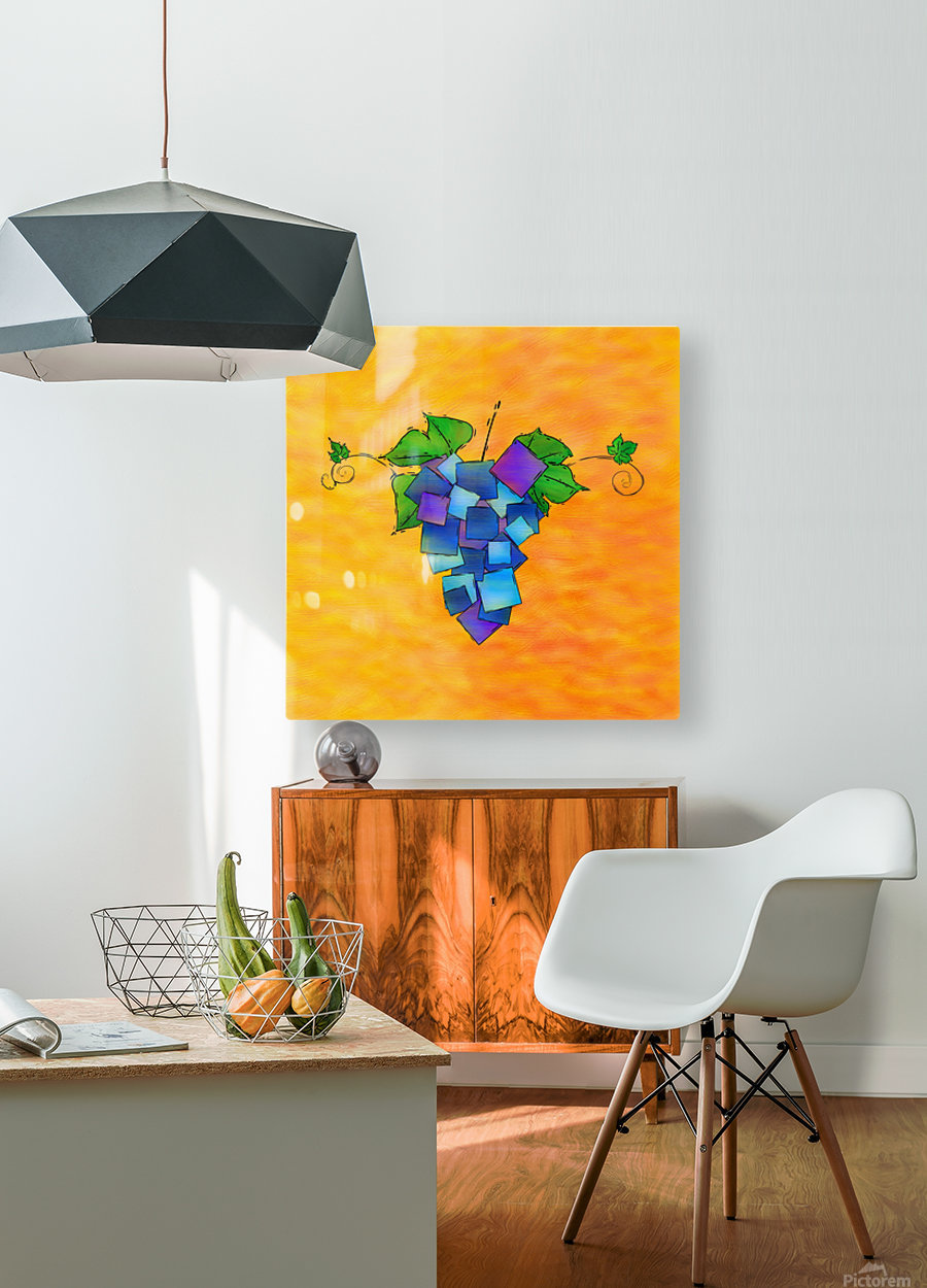 Jamurissa - square grapes  HD Metal print with Floating Frame on Back