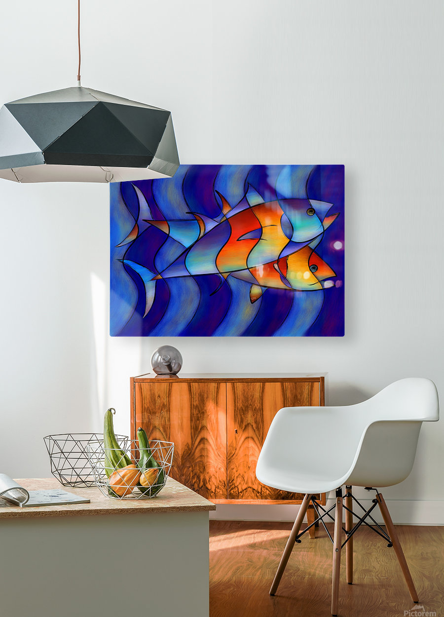 Cassanella - dream fish  HD Metal print with Floating Frame on Back