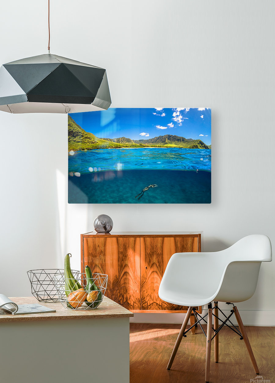 Makua  HD Metal print with Floating Frame on Back