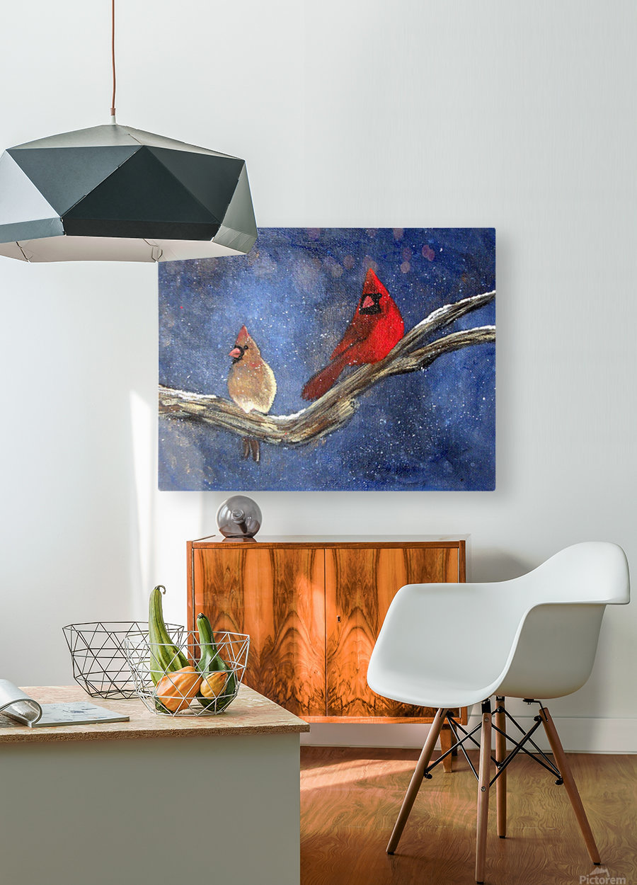 Cardinals  HD Metal print with Floating Frame on Back