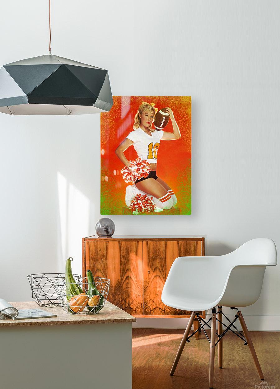 Lou Freeman©  Vintage Pin Up Girls 14622  HD Metal print with Floating Frame on Back