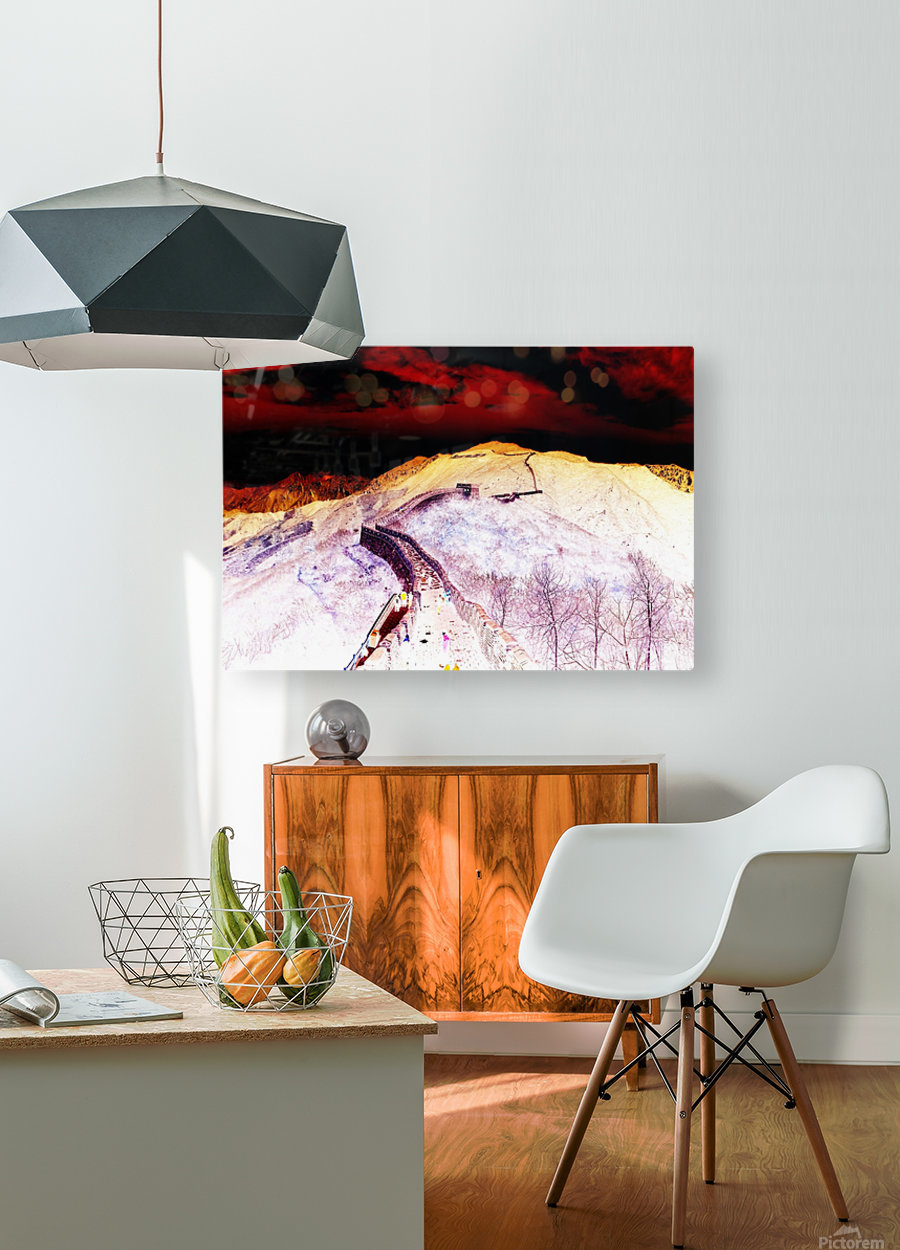 Great Wall  HD Metal print with Floating Frame on Back
